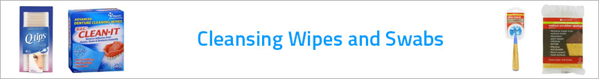 Cleansing Wipes and Swabs