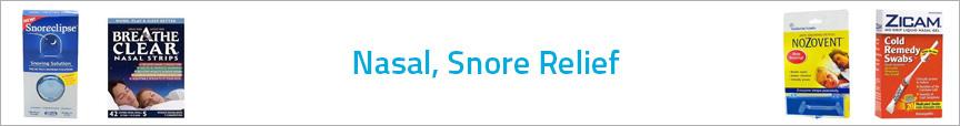 Nasal, Snore Relief