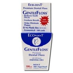 Ecodent gentle floss premium dental floss  mint - 6 pack