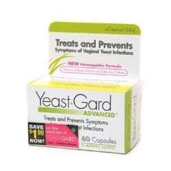 Yeast gard advanced homeopathic capsules - 60 Ea