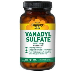 Vanadyl sulfate caps 5000 mcg by biochem country life capsules - 90 ea