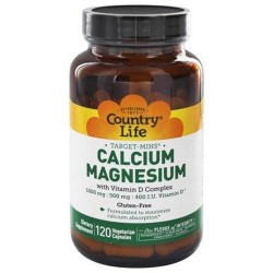 Country life  targetmins calciummagnesium with vitamin d complex vegetarian capsules - 120 ea