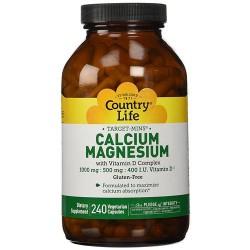 Country Life, Calcium Magnesium, Vitamin D Complex Vegetarian Capsules - 240 ea