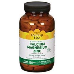Country life vitamins target mins cal-mag-zinc - 180 tab