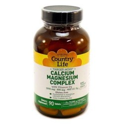 Calcium magnesium complex with d3 by country life  tablets - 90 ea