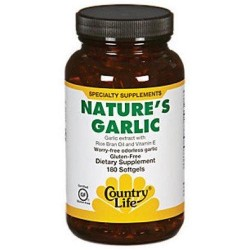 Country Life Nature's Garlic Softgels - 180 ea