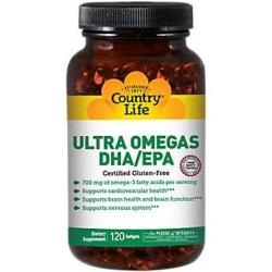 Country Life Vitamins ultra omegas softgels - 120 ea