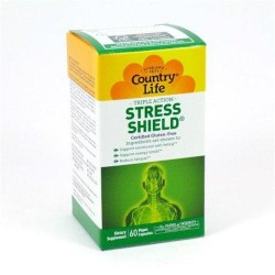 Stress shield by country life vegetarian capsules - 60 ea