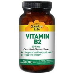 Country Life Vitamin B-2 100 Mg - 100 ea
