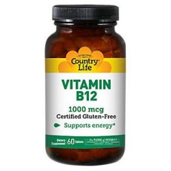 Country Life Vitamin B-12, 1000 mcg Tablets - 60 ea