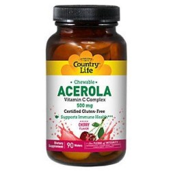 Country Life Chewable Acerola C Complex, 500Mg - 90 Wafer