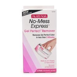 Nutra nail no-mess express gel polish remover - 5 pads