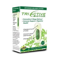 Triactive biotics supplement for immune and digestive health 100% non-gmo 90 day supply - 6.4 oz