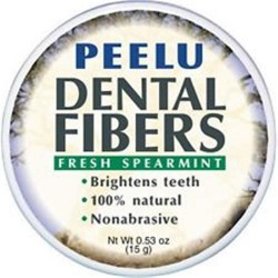 Peelu dental fibers tooth powder spearmint  -  0.53 oz