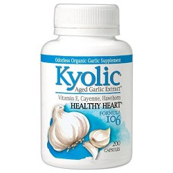 Kyolic formula 106 aged garlic extract circulation capsules  - 200 ea