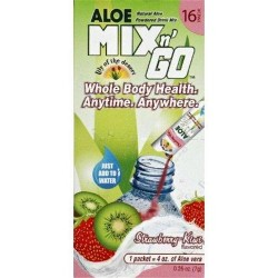 Lily of the desert  aloe drink mix go strawbarry kiwi - 16 ea