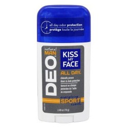 Kiss my face natural man all day deodorant energizing sport scent - 2.48 oz.
