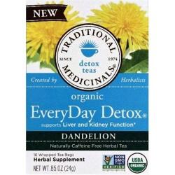 Traditional medicinals detox teas pack of 6 - 16 bags
