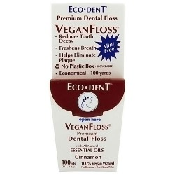 Eco-Dent vegan floss premium dental floss, Cinnamon - 100 yard
