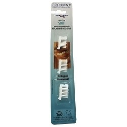 Eco-dent terradent 31 adult replacement toothbrush head - Soft - 3 refills