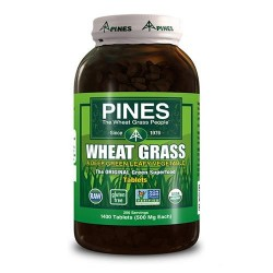 Pines wheat grass tablets 500 mg tablets  -  1400 ea