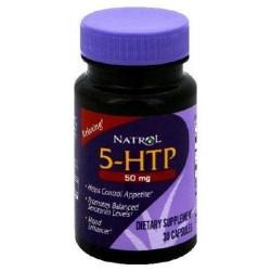 Natrol 5htp 50mg capsules promotes positive mood - 30 ea