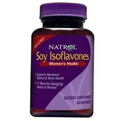 Natrol 50mg womens soy isoflavones capsules, monopause relief - 60 ea