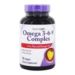 Natrol omega 3 6 9 complex softgels - 90 ea