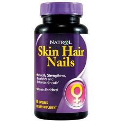 Natrol skin hair nails capsules for women - 60 ea