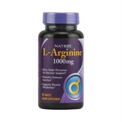 Natrol larginine 1000 mg tablets - 50 ea