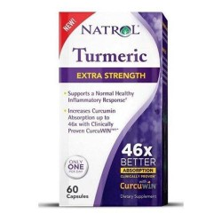 Natrol turmeric extra strength curcumin absorption inflammation - 60 ea