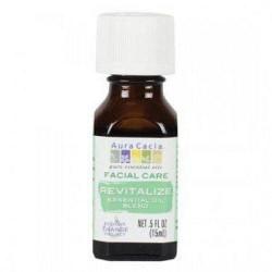 Facial care revitalize essential oil blend aura cacia - 0.5 oz