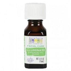 Facial care illuminate essential oil blend aura cacia - 0.5 oz