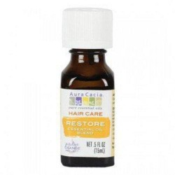Hair care restore essential oil blend aura cacia - 0.5 oz