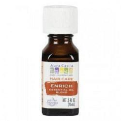 Hair care enrich essential oil blend aura cacia - 0.5 oz