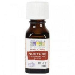 Nail care nuture essential oil blend aura cacia - 0.5 oz