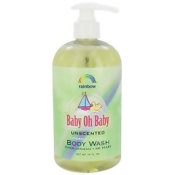 Rainbow Research Baby Oh Baby Organic Herbal Body Wash, Unscented - 16 oz