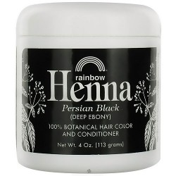 Rainbow Research Henna Hair Color and Conditioner, Persian Black, 4 oz