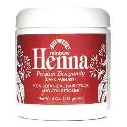 Rainbow henna persian burgundy botanical hair color and conditioner - 4 oz