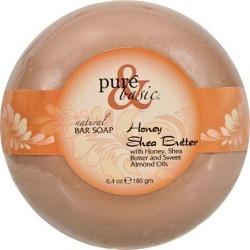 Purend basic natural deodorant bar soap  honey shea butter - 64 oz ,6 pack