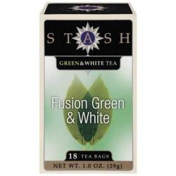 Stash premium fusion green and white tea bags pack of 6 - 18 bags