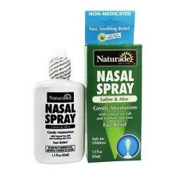 Naturade saline aloe nasal spray - 1.5 oz