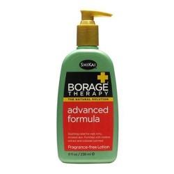 Shikai borage therapy fragrance free advanced formula dry skin lotion - 8 oz
