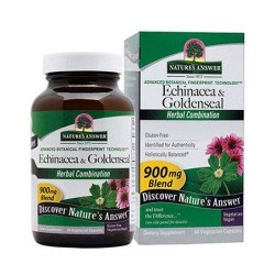 Natures answer echinacea - Goldenseal veg capsules - 60 ea