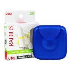 Radius compact tampon condom case 3 in x 3 in x 0.75 In - 1 ea ,6 pack