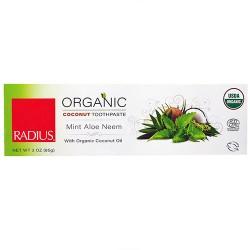 Radius organic coconut toothpaste, mint aloe neem - 3 oz