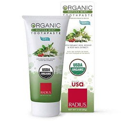Organic organic toothpaste gel, cardamom - 3 oz