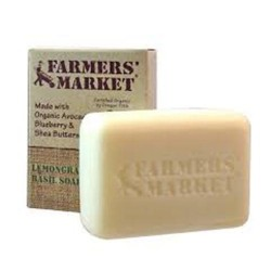 Farmers market organic bar soap lemongrass basil - 5.5 oz