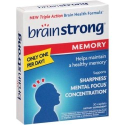 Brainstrong memory dietary supplement caplets - 30 ea
