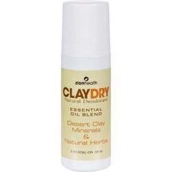 Zion health clay dry natural deodorant - 3 oz